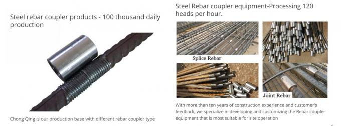 Rib Peeling Roll Thread Structural Rebar Connectors For Connecting Two Rebars