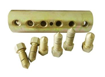 Mechanical Bar Anchor Bolt Coupler , Steel Material Rebar Splicing System